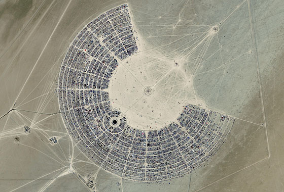 Burning Man on the Playa - Desert Performance Art Experience