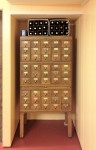 Oakley Wine Cellar - from an old library card catalog