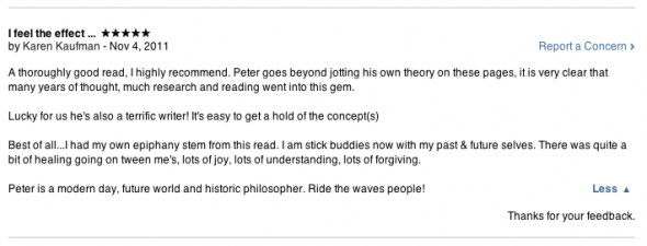 """5-Star review of the Peter Oakley ebook, """"Oceans of Light: A Users Guide to the Multiverse."""""""