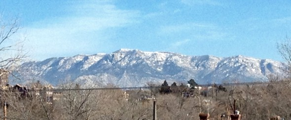 WiFi on the Train - the Sandia Mountains near Albuquerque NM
